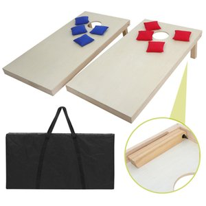 4x2' Foldable DIY Wooden Bean Bag Toss Cornhole Game Set of 2Boards & 8 Beanbags
