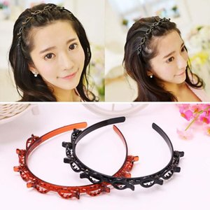 Layer Twist Plait Head band Hair Tools, Double Bangs Hairstyle Hairpin, Multi-layer hollow woven headband