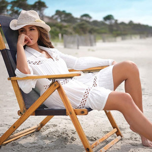 Tunic Beach Plus Size Cover Ups Swimsuit Up Womens Swimming Dress Kaftan Swim Ropa Sun Wear Salidas De Playa Covers For Women