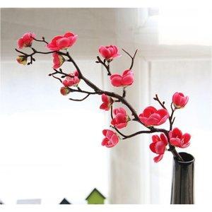 60cm 4Color Fleurs artificielles Cherry Blossom 10pieces / Lot Home Table Vase Bureau De Mariage Fête Fête Decora Jllwmd BDebag