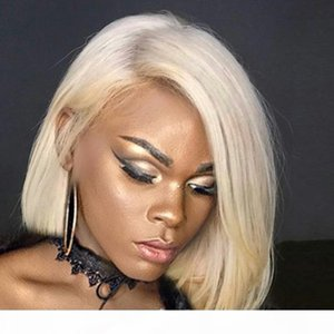 """613 Wig Human Hair Bob Wigs Full Lace Blonde Wigs Can Be Dyed Short Cut Bob Natural Straight 10""""-18"""""""