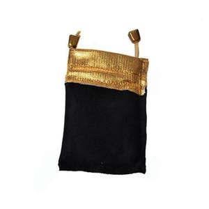Borsa di stoccaggio dei gioielli Coulisse con coulisse flanella Phnom Penh Bag Black Velvet Pettine Packaging Doppio coulisse Piccola borsa flanellata Pacchetto Sea DDC5137