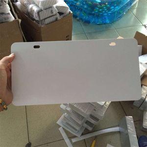Sublimación en blanco Metal Placa de coche Placa de placa Artículo Producto Producto Estampación de transferencia de corazón caliente DIY Consumibles personalizados 29.5 * 14.5cm