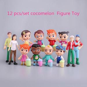 2021 Anime Cocomelon Figura Toy PVC Modello Bambole Cocomelon Giocattoli per bambini Regalo del bambino 12pcs / Set Regalo di Natale all'ingrosso