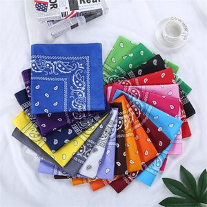 Polyester Bandana Hip Hop Soft Comfortable Scarf Outdoor Sports Neck Gaiters Men Women Flower Print Bandanas 2021 Dropship