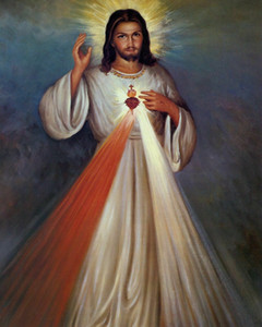 Catholic picture DIVINE MERCY Sacred Heart Home Decor Handcrafts  HD Print Oil Painting On Canvas Wall Art Canvas Pictures 201126