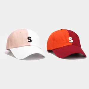 2020 Hat Women Korean letters baseball cap female youth fashion casual color matching cap spring and summer student sun hat @301