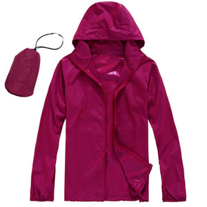 Outdoor Men And Women Skin Clothing Lightness Thin Quick-Drying Fishing Sun Protection Jacket Sport Running Hiking Climbing Coat Q1201