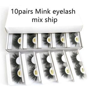 6D 10 Styles 25mm eyeLash 3d Mink Lashes in Bulk Natural Long Mink Lashes False Eyelash 3d mink false eyelash free ship
