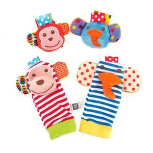 Simpatico Animale Baby Boy Girl Girl Boy Boys Socks Toddler Foot Finder Set Developmentale Soft Peluche Giocattoli Monkey Elephant