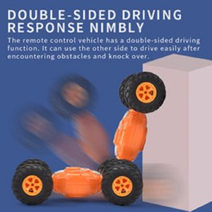 Remote control car toy double sided driving four wheel driwe twisted stunt vehicle toys gift of the child