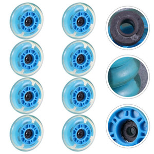 8pcs Convenient Durable Luminous Ices Wheel Roller Wheels for Home Store Shop