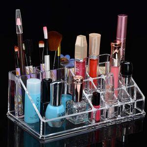 New Acrylic Makeup Organizer Organizer For Cosmetic rangement maquillage Plastic Storage Box Holder Z1123