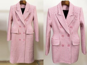 European and American autumn and winter high-quality woolen double-breasted suit (long and short)
