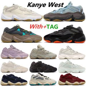 Yeni Varış Kanye 500 Lavanta Enflam Yumuşak Vizyon Taş Koşu Ayakkabıları Çöl Sıçan Kemik Beyaz 500 S Yardımcı Programı Siyah Erkek Spor Eğitmenleri Sneakers