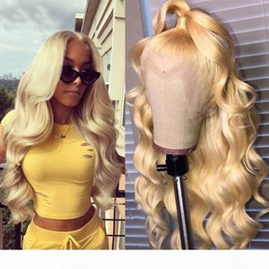 Blonde Full Lace Wig 613 color Body Wave Wig 180%density Preplucked and Bleached Knots Glueless Transparent Lace front Wig for Black Women
