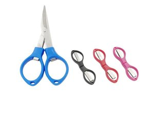 Portable Foldable Fishing Scissors Small Scissors Fishing Line Cutter Tools Outdoor Travel Collapsible Student Scissors