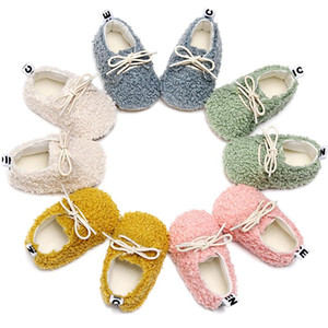 Lamb Wool Warm Baby Shoes Lace Up Soft Fur Cotton Shoes Soft Hard Sole Toddler Newborn Baby Moccasins Sneakers Crib