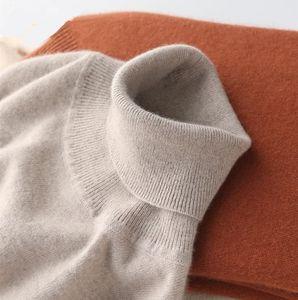 Cashmere Cotton blend Turtleneck Men Sweater Autumn Winter Man Pullover High Neck Sweater Jersey Hombre Pull Homme Hiver Jumper