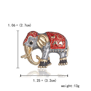 Enamel Paint Oil Animal Brooch Elephant Alloy Pins Corsage Accessories Suits Collar Jewelry Scarf Buckle For Women Female Gift jllFIX