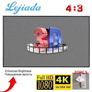 Lejiada Projektor-Bildschirm 4: 3 100 84 72 60 30 Zinch 3D 1080p HD Faltbare Tragbare Projektion Filme Bildschirmtheheer im Freien Indoor1
