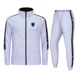 Paris FC 2020-21 Autumn and winter new jacket men's football training suit long casual wear sports training suit men's running suit