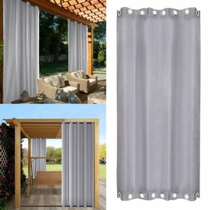 Outdoor Waterproof Curtain Thermal Insulated Blackout Curtain Drape for Patio Garden Front Porch Gazebo