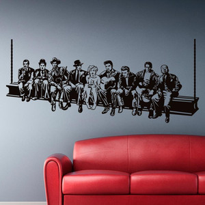 Hollywood Lunch Wall sticker Movie star Wall decals American style home decoration Mural house decor for living room or bedroom 201202
