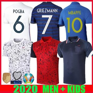 NCAA 2020 2021 France MBAPPE GRIEZMANN POGBA jerseys 20 21 Soccer jersey training polo Football shirts tracksuit maillot de foot men kids k