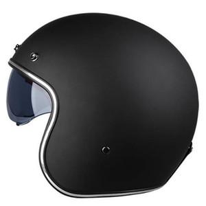 Retro Half Face Motorcycle Helmet Scooter Capacete Open Vintage Open Face 3 4 Helmet Electric Motorbike Casco DOT