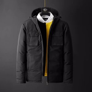 New product down jacket young men brief paragraph tooling big fashion hooded jacket pocket