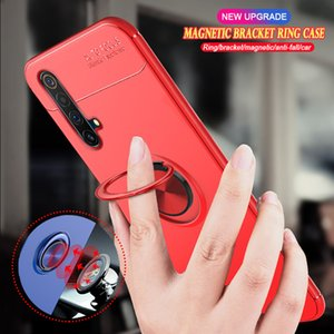 wholesale For OPPO Realme X50 Pro Play Narzo 10 10A X3 SuperZoom X2 X XT X50M Soft TPU Magnetic Car Stand Phone Cover Coque