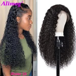 Water Wave Lace Front Wig T جزء ماليزيا الرباط الباروكات ريمي الشعر البشري الباروكات للنساء قبل نتف مع شعر الطفل 150٪ الكثافة
