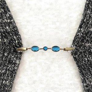 Mode frauen kristall strass pullover schal clips cardigan kragen metall pin brosche clip halter hochzeitsweihnachtsgeschenk
