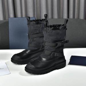 Mujeres Martin Botines Plantilla Plantilla Botas de calcetín Femmes Nueva Moda Invierno Bota Negro Con Letra De Alta Calidad Tobillo De Cuero Bota Stiefel
