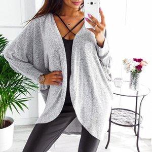 Outerwear & Coats Jackets Womens Kintted Cardigan Sweater Asymmetric Hem Long Sleeve Tops Coats And Jackets Women 2020sep20