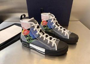 2021 Новый Limited Canvas Shoes Edition Пользовательские печатные любители Холст Обувь Высокая обувь с оригинальной упаковочной коробкой Доставка 34-46