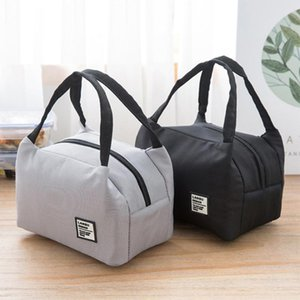 Waterproof Oxford Cloth Portable Patch Lunch Bag Thermal Insulated Bento Case Tote Cooler Dinner Storage Container Handbag