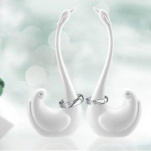 Swan Elephant Jewelry Display Stand Rack Shelf Melamine Frame Cartoon Animal Modeling Key Ring Holder Organizer Craft Articles