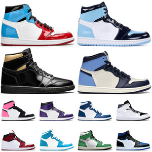 Nike Air Jordan 1 1s Jordan Retro 1 새로운 도착 중간 밝은 회색 점프 만 1 1S 농구 신발 새틴요르단레트로 높은 og 바이오 해킹 흑요석 로얄 발가락 여성 남성 운동화