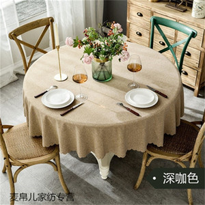 Large round tablecloth, fabric cotton linen table mat, rectangular coffee table cloth tablecloth LJ201223