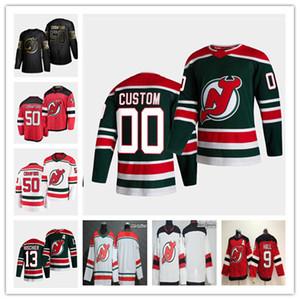 2021 Nouveau Jersey Devils Reverse Retro Jersey Corey Crawford Alexander Holtz Dawson Mercer Shakir Mukhamadullin Andreas Johnsson Ryan Murray