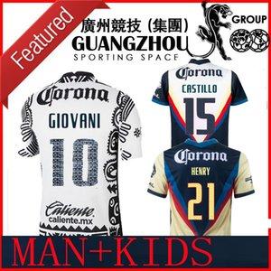 Новый Liga MX 21 22 Club America Футбол Футбол Третий Генри Гиовани Caceres B.valdez 2021 Home Away Maillot Женщины Мужчины Детский комплект Футбольные рубашки