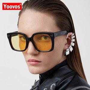 Yoovos 2020 Women Sunglasses Oversized Sunglasses Women Classic Sun Glasses Square Okulary Brand Design Gafas De Sol De Mujer