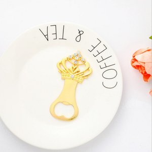 Golden Crown Diamond Wedding Corkscrew Beer Cup Opener With Gift Box Party Favors Souveniers Gifts Decoration