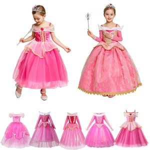 Fancy Sleeping Beauty Aurora Dress up Party Costume Cosplay Long Dress Halloween Birthday Gift Z1127