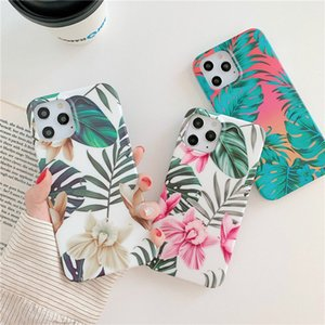 Конструктор Цветочного лист Печать ударопрочного сотового телефона Чехлы для iPhone 11 12 Про Макс хз макса 7 8 хга плюс IMD задней крышки