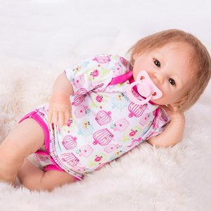 45cm Silicone Body Reborn Baby Doll Toy Like Real Newborn Babies Alive girl Doll Toy Girls