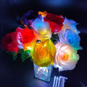 LED Gül Çiçek Sevgililer Günü Hediyeler Aydınlık Plastik Yapay Çiçekler Sevgililer Günü Chrismas Parti Dekorasyon Çiçekler XD24198