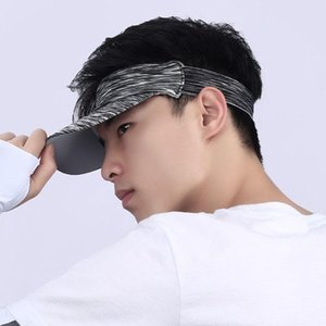 Unisex Outdoor Running Visor Cap Multicolored Headband vacío Top Sports Sun Hat 28GD